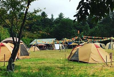 米フェスキャンプの様子